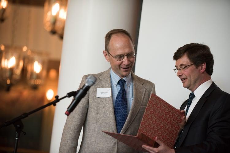 DET receives An die Musik award from Barry Kempton (Photo: Jayme Halbritter)