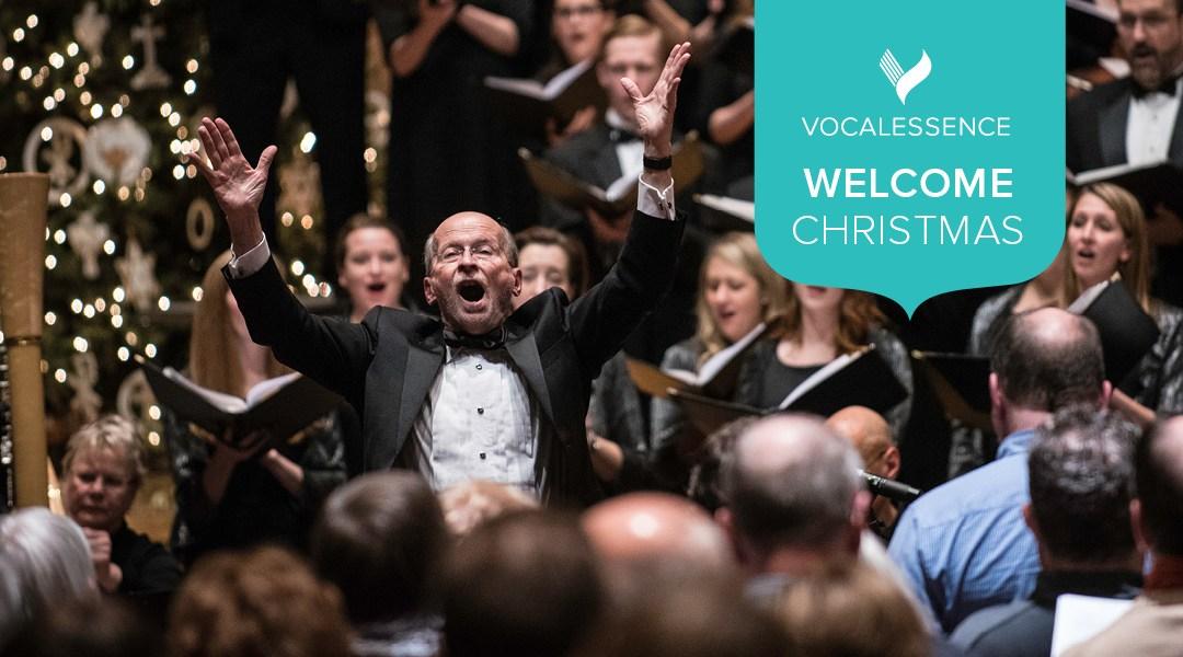 man conducting choir