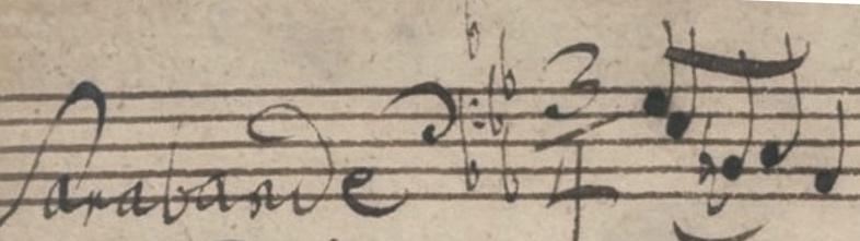 Bach Sarabande incipit
