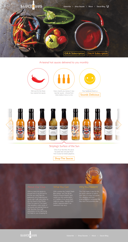 Sauce Haus Homepage