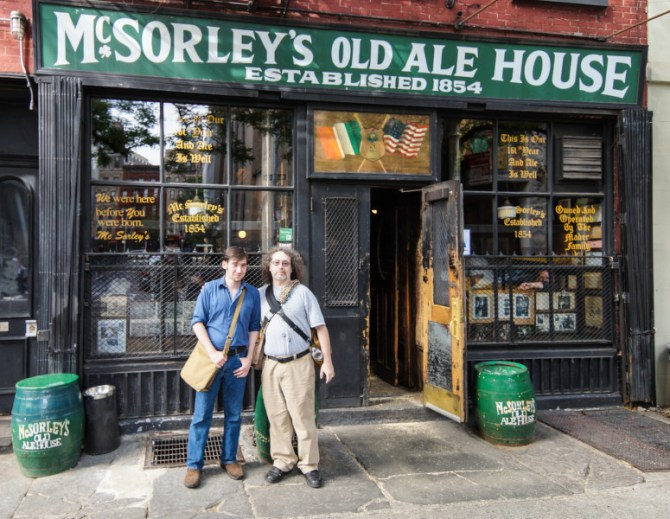 Steven and David at McSorley's