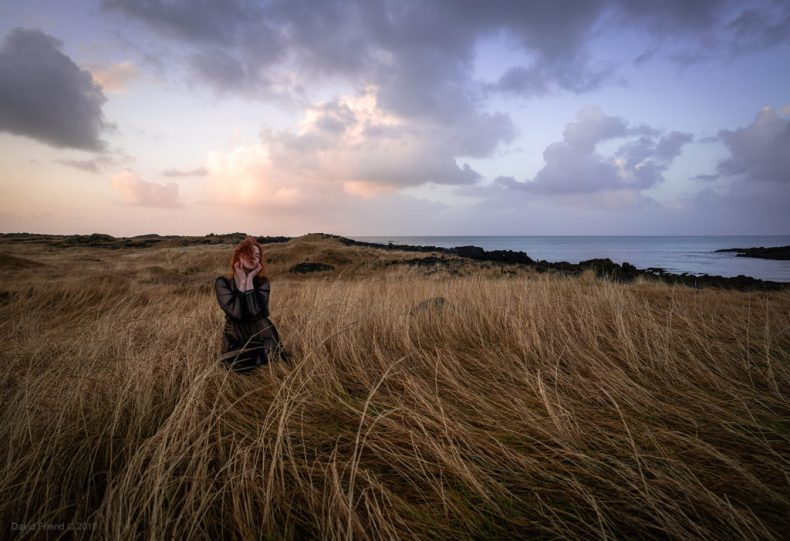 Model posing in Island feild