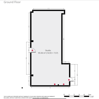 dance studio hire floor plan