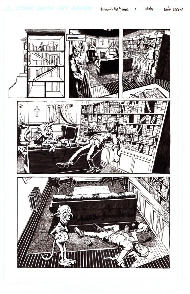 Grandpa's Pet Demon - Page 3 - Inks