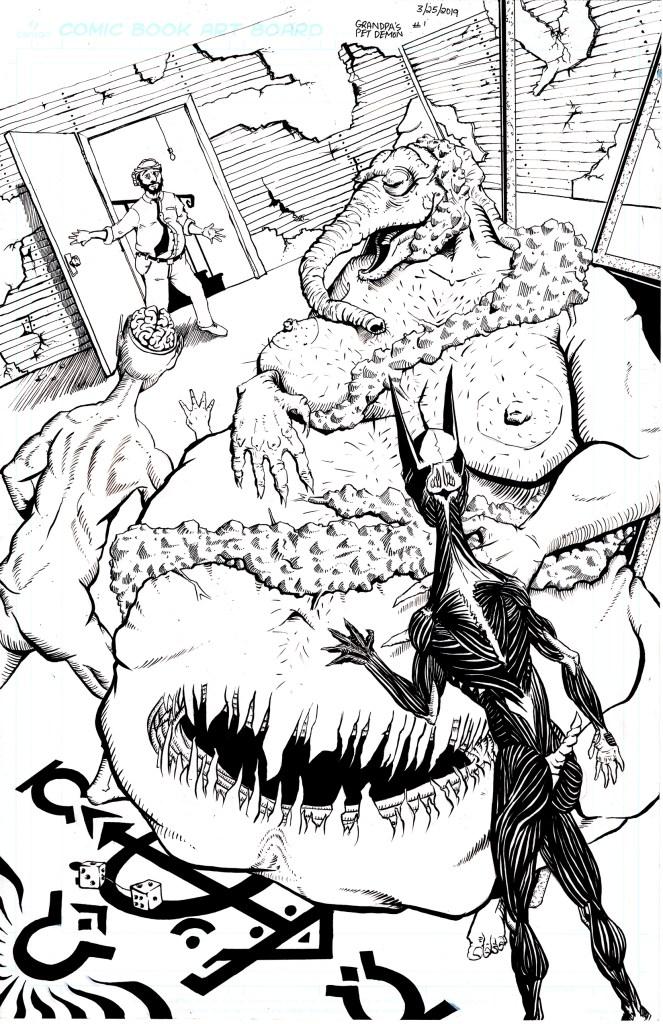 Grandpa's Pet Demon - Page 6 - Inks