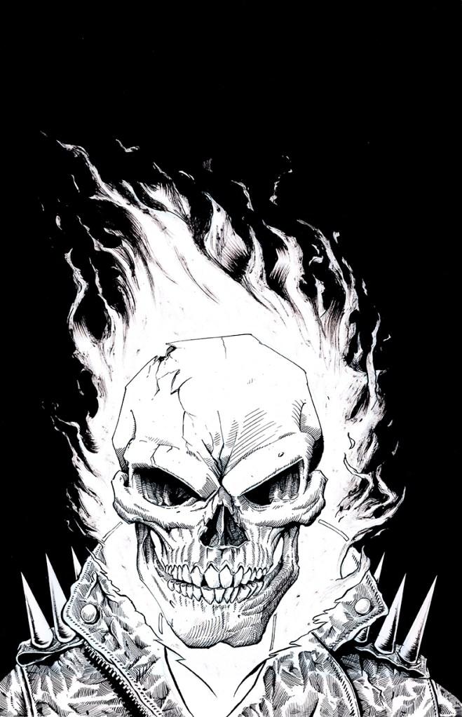 "Ghost Rider Mugshot, 11""x17"", 2019"