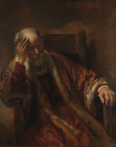 Old Man in an Armchair by Rembrandt