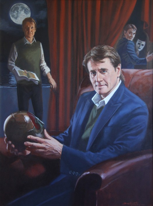 """Painting of """"Duncan Regehr"""" by David Goatley: Oil on canvas, 40"""" x 30"""""""