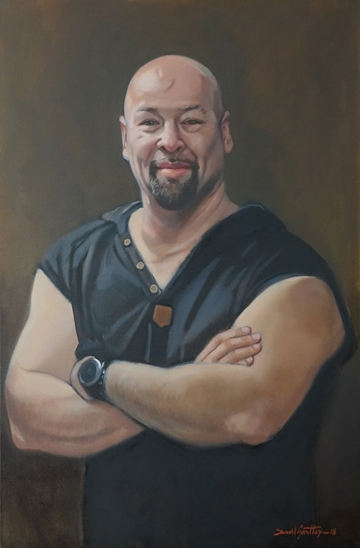 Painting of a strong but gentle man