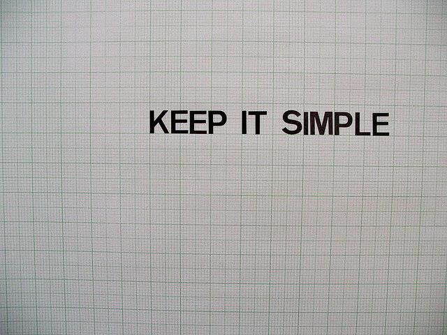 Mantenlo sencillo
