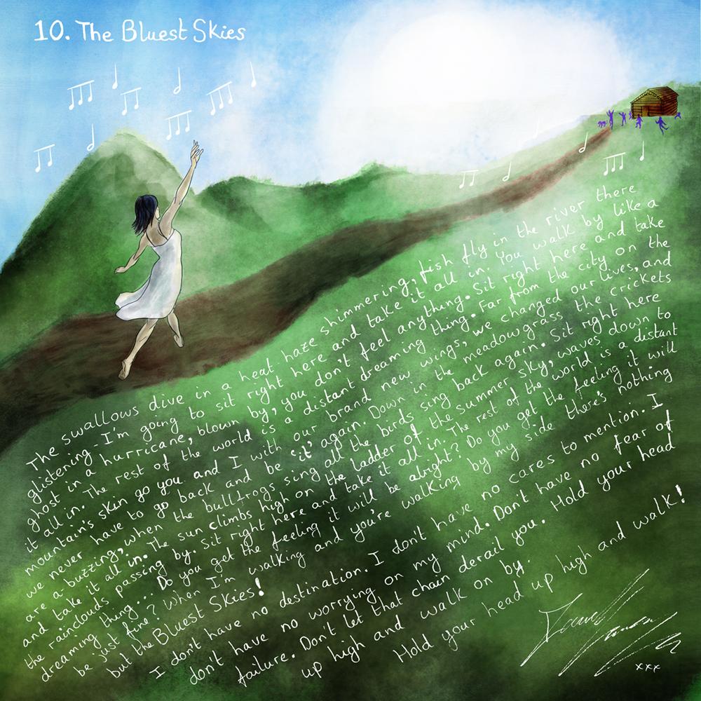 David Green The Bluest Skies Artwork with Lyrics