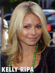 Kelly Ripa NYC Extensions Color Cut Celebrity Hair Style