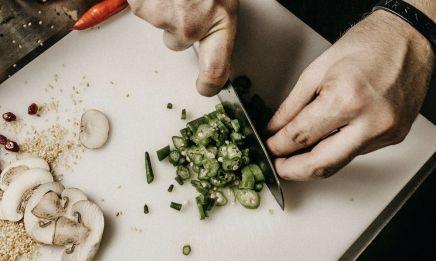 Cuchillo japonés para cortar verduras