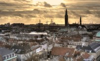 Copenhagen City Hall, Tivoli and Copenhagen rooftops © David Hamilton Melby high dynamic range