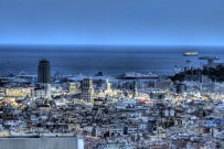 Barcelona city and labor view © David Hamilton Melby high dynamic range