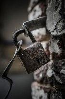 Fort de la Chartreuse rusty padlock © David Hamilton Melby