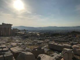Above the city of Athens