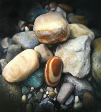 """Rock of Ages, 11""""x10"""", oil on panel, $2200"""