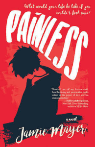 Cover of Painless by Jamie Mayer; silhouette of a person kneeling
