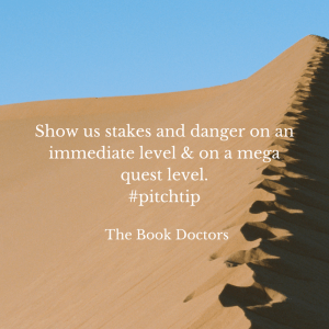 Show us stakes and danger pitch tip desert