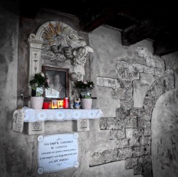 Shrine in the dark street of Sottoriva