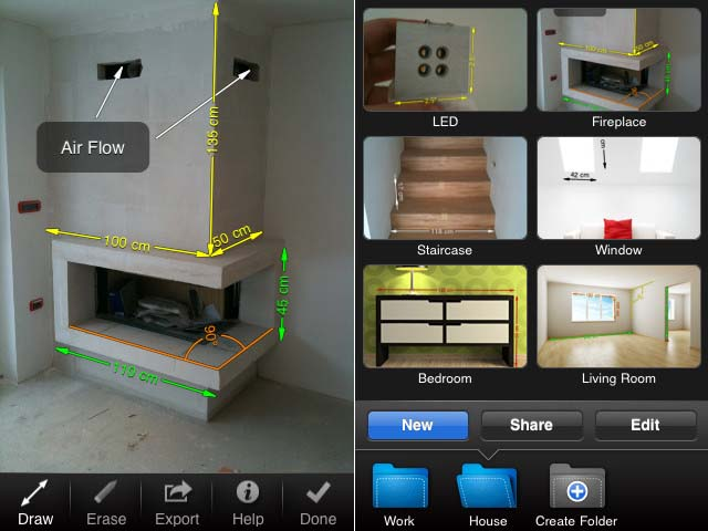 manage your measurement data with my measures dimensions iphone app 1 - In With the New: Mobile Apps That Can Help With Home Improvements