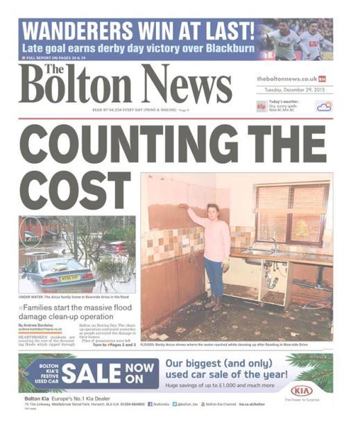 Floods Tuesday bolton