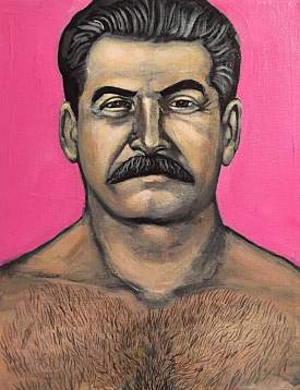"""Hot Stalin"" Acrylic on Canvas 2015"