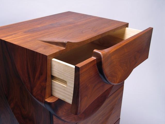 Fine Woodworking magazine, chest of drawers, dresser, walnut, carved ...