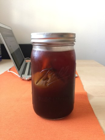 Cold brew finished after 24 hours