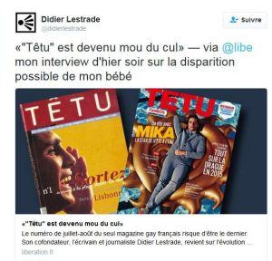 Tweet de Didier Lestrade