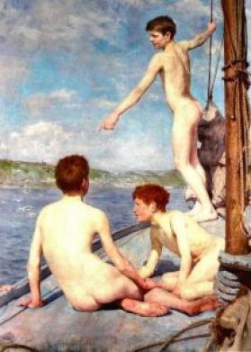 The Bathers - 1885 - Henry Scott Tuke