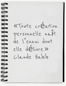 citation de Claude Habib