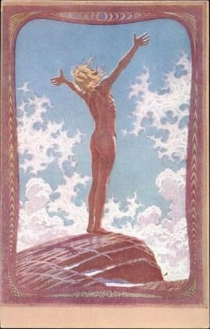 Prière la lumière - Lichtgebet - Fidus - 1894