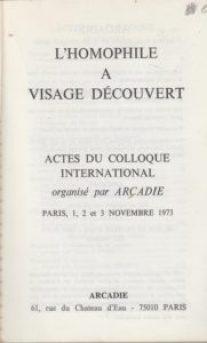 Colloque d'Arcadie