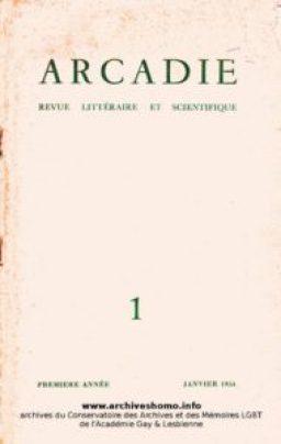 Premier numéro de Arcadie - Janvier 1954