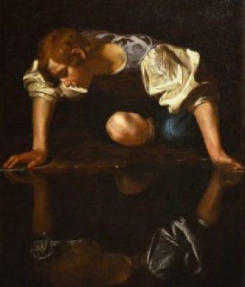 Narcisse par Caravage