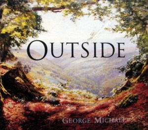 Single cover for Outside by George Michael (1998)