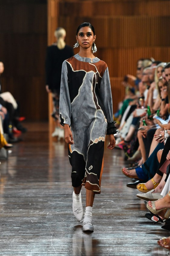 Models wear Ngali pieces on the runway. Images courtesy of Denni Francisco