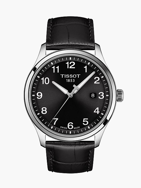 mens watch black leather