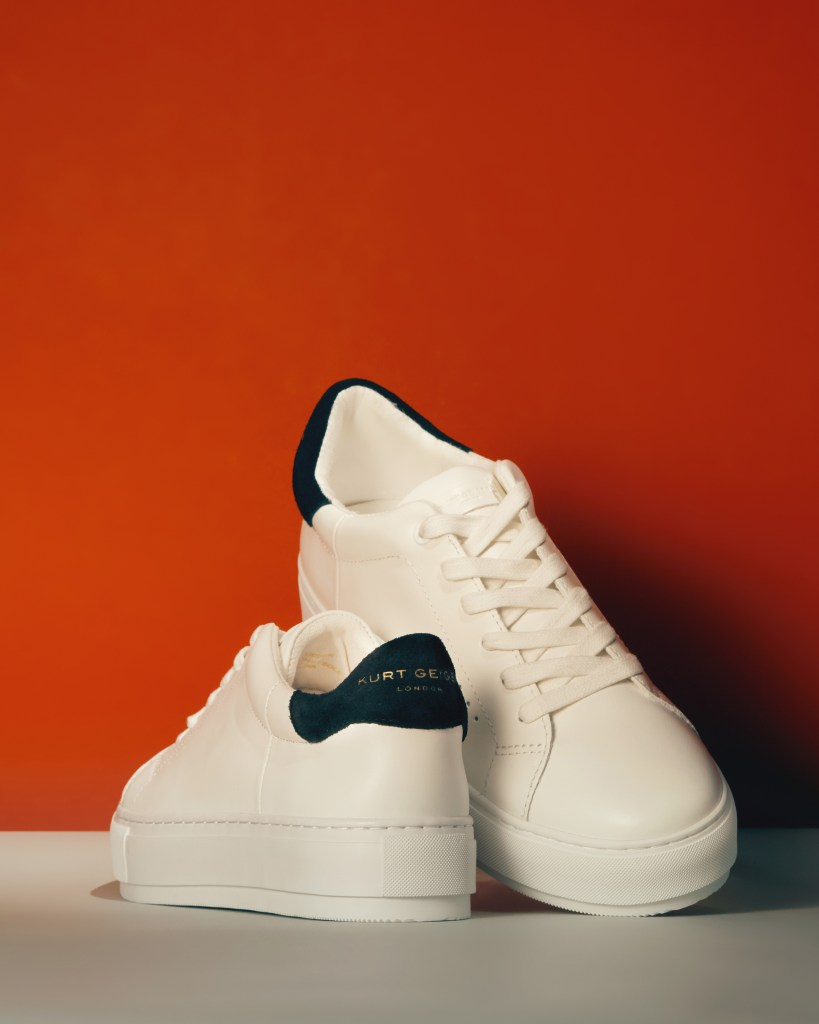 kurt geiger womens sneakers white plain classic
