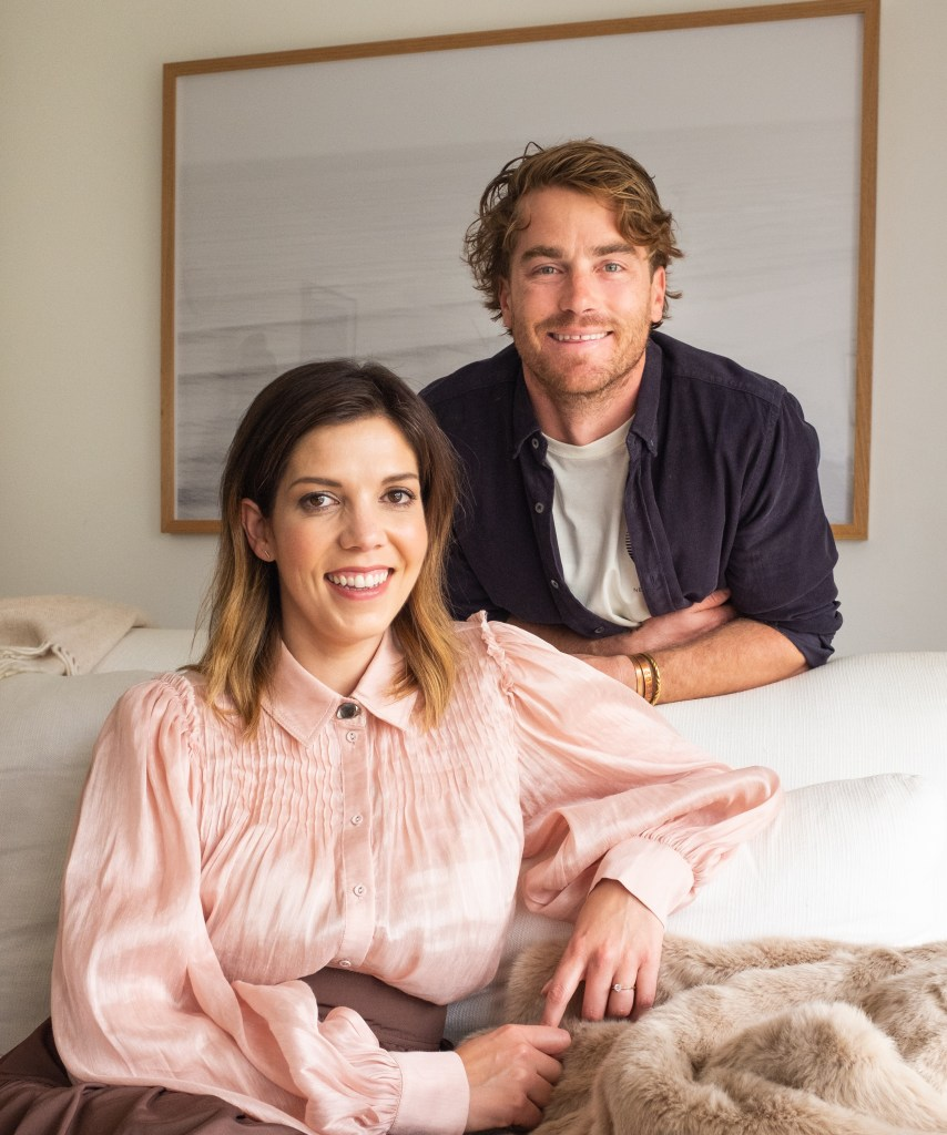 lucy feagins and hayden quinn in his sydney apartment home