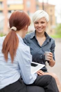 business women conversation