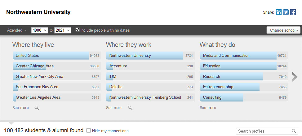 LinkedIn - Alumni Search
