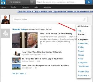 LinkedIn Newsfeed 2013-09-24