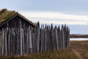 Viking village ruins in Iceland