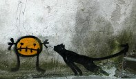Lemon Figure and Black Cat Santiago Spain