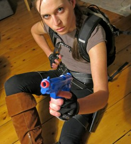 Laura Croft Tomb Raider Photo by David J Rodger