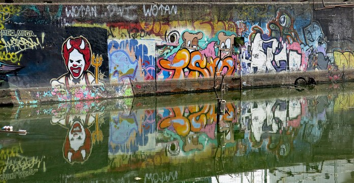 Graffiti at NDSM Amsterdam travel photo by David J Rodger