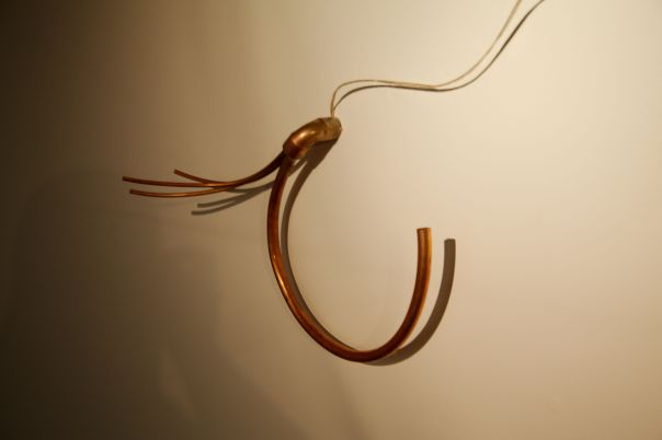 One of the copper sound sculptures